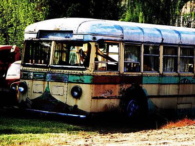 Photograph - Bus Stop by Jacqueline  DiAnne Wasson