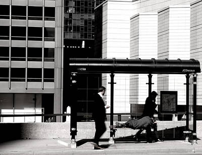 Photograph - Bus Stop by Kevin Duke
