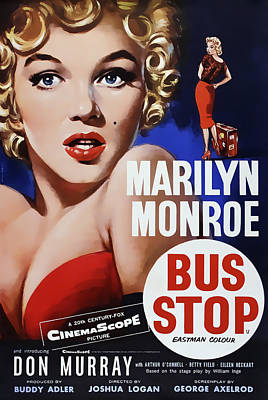 Blockbuster Photograph - Bus Stop Movie Lobby Ad  1956 by Daniel Hagerman