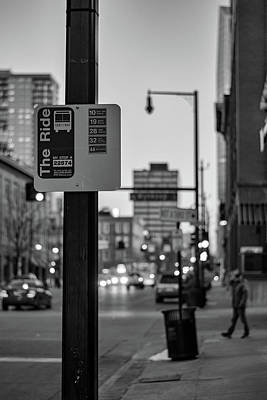 Photograph - Bus Stop by Philip Rodgers