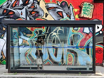 Photograph - Bus Stop, Toronto, Canada, 2008 by John Jacquemain