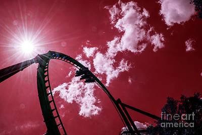Rollercoaster Photograph - Busch Coaster  by Rob Hawkins