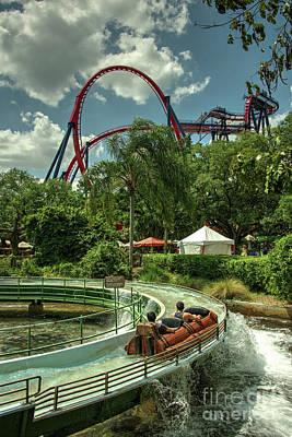Rollercoaster Photograph - Busch Flume  by Rob Hawkins