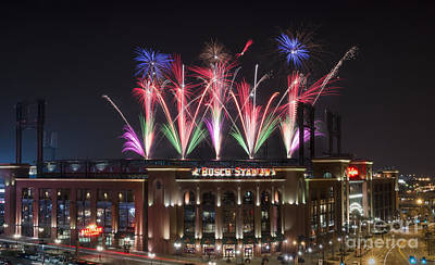 Art Print featuring the photograph Busch Stadium by Andrea Silies