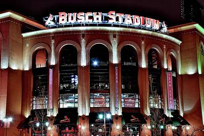 Photograph - Busch Stadium by Frozen in Time Fine Art Photography