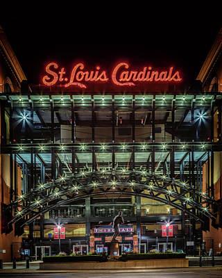 Photograph - Busch Stadium Gate 3 by Susan Rissi Tregoning