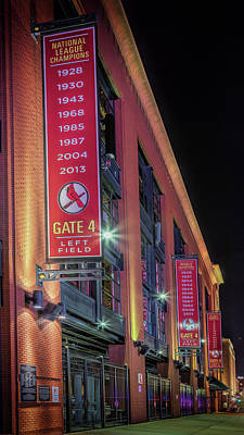 Photograph - Busch Stadium Gate 4 by Susan Rissi Tregoning