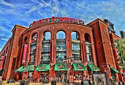 Photograph - Busch Stadium - Home Of The St . Louis Cardinals by Allen Beatty