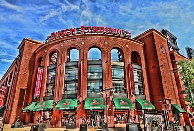 Photograph - Busch Stadium - Home Of The St . Louis Cardinals by Allen Beatty