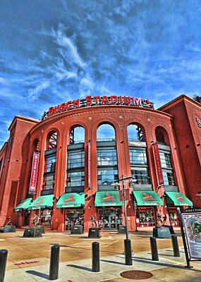 Photograph - Busch Stadium - Home Of The St . Louis Cardinals # 2 by Allen Beatty