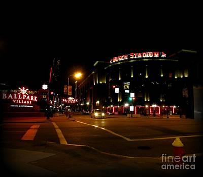 Photograph - Busch Stadium by Kelly Awad
