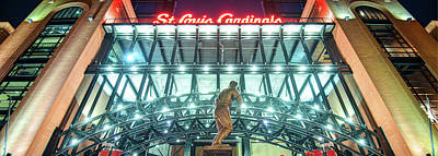 Sports Royalty-Free and Rights-Managed Images - Busch Stadium Panoramic by Gregory Ballos