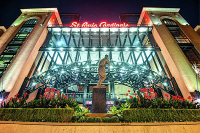 Photograph - Busch Stadium - Saint Louis Cardinals And Stan Musial by Gregory Ballos
