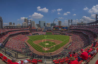 Photograph - Busch Stadium St. Louis Cardinals 11a Pano by David Haskett