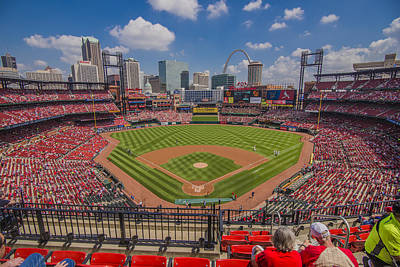 Photograph - Busch Stadium St Louis Cardinals Ball Park Village #3 by David Haskett II
