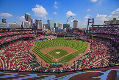 Photograph - Busch Stadium St. Louis Cardinals Ball Park Village #3b by David Haskett II