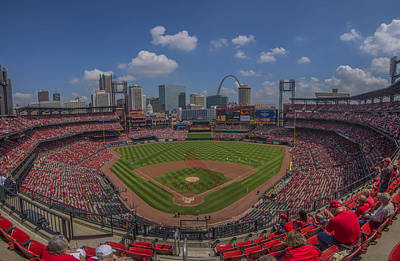 Photograph - Busch Stadium St. Louiscardinals 11b Pano Cardinal by David Haskett