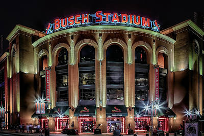 Photograph - Busch Stadium by Susan Rissi Tregoning