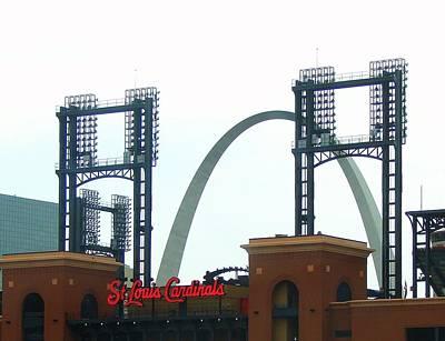 Busch Stadium With Arch Art Print