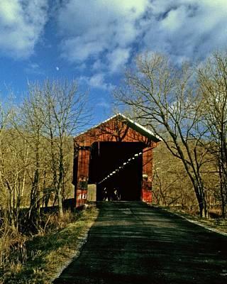 Photograph - Busching Bridge Versailles Indiana by Gary Wonning