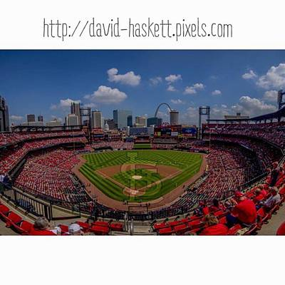 Baseball Photograph - #buschstadium #cardinalnation #baseball by David Haskett