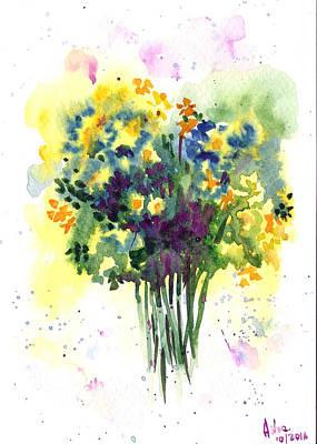 Painting - Bush Flowers by Asha Sudhaker Shenoy