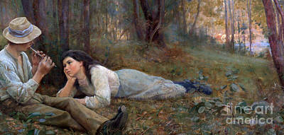 Head In Hands Painting - Bush Idyll by Frederick McCubbin