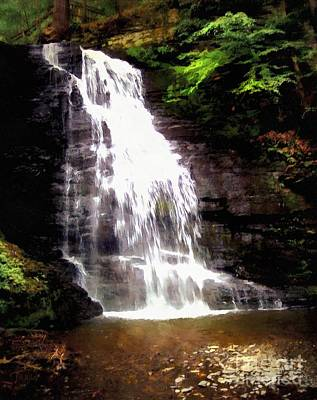 Photograph - Bushkill Falls Bridal Veil Falls by Janine Riley
