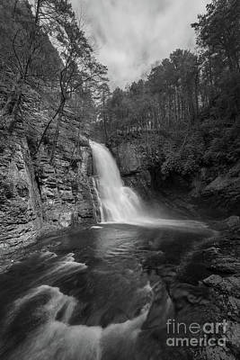 Photograph - Bushkill Falls From The Gorge Bw  by Michael Ver Sprill