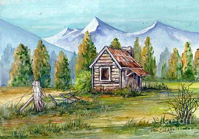 Broken Fence Painting - Bushmans Refuge. by Val Stokes