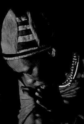 Bushmen Praying Woman Art Print by Miranda  Miranda