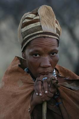 Bushmen Woman Art Print by Miranda  Miranda