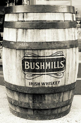 Photograph - Bushmills Whiskey Barrel In Dublin by Georgia Fowler