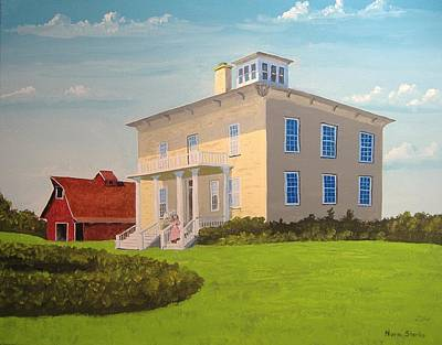 Painting - Bushnell Wheeler House by Norm Starks