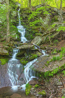 Photograph - Bushnellville Creek Falls In Golden Hour by Angelo Marcialis