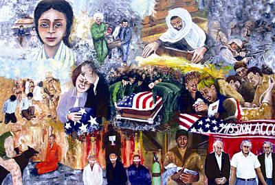 Iraq War Painting - Bush's War by Leonardo Ruggieri