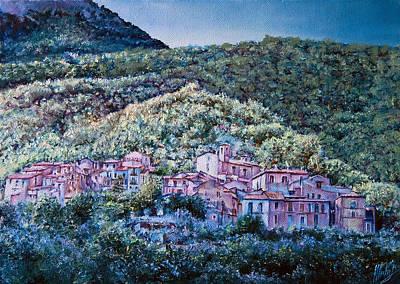 bushy Mountain Art Print by Michel Angelo Rossi