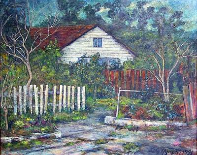Bushy Old House Print by Lily Hymen