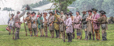 Seven Years War Digital Art - Bushy Run Milita Camp Roll Call by Randy Steele