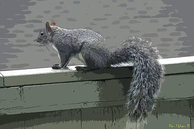 Photograph - Bushy Tailed Squirrelfriend by Ben Upham III