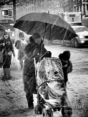 Photograph - Business As Usual - Blizzard by Miriam Danar