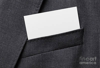 Outdoor Graphic Tees - Business card in suit pocket by Shaun Wilkinson