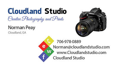 Photograph - Business Card by Norman Peay