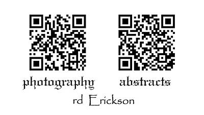 Photograph - Business Card by rd Erickson