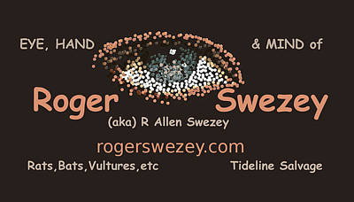Digital Art - Business Card by Roger Swezey