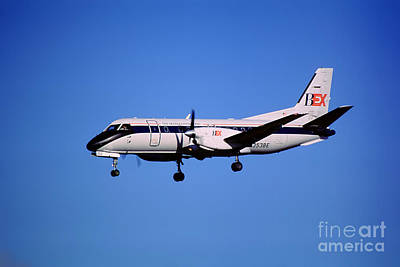 Business Express, Delta Connection, N353be, Bex Saab 340b Art Print by Wernher Krutein