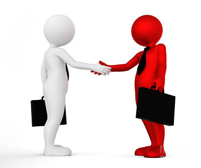 Shake Photograph - Business Handshake. Ton Man Shaking Hands. Deal, Agreement, Partner Concept by Michal Bednarek