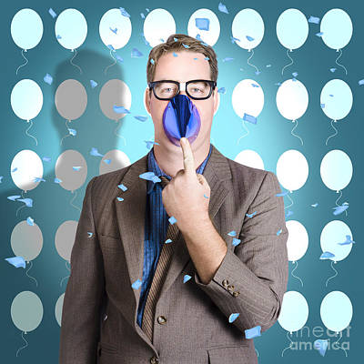 Gathering Photograph - Business Joker Playing Around At Work Function by Jorgo Photography - Wall Art Gallery