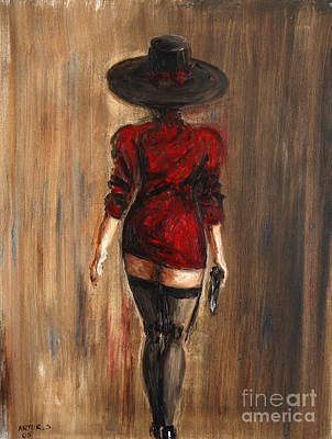 Business Lady Art Print by Arturas Slapsys
