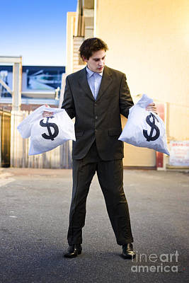 Business Man Looking For Financial Planning Help Art Print